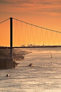 The Bosphorus Bridge by the Sunset, Istanbul Oh The Places You'll Go, Places To Travel, Places To Visit, Ankara, Bosphorus Bridge, Beautiful World, Beautiful Places, Republic Of Turkey, Belle Villa