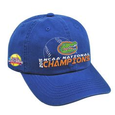 Back2Back for the Gators! Cheer for your Florida Gators in this 2015 NCAA Women's Softball College World Series Champions adjustable hat.Curved bill; Adjustable; Six panels with eyelets; Unstructured; Officially licensed* Should be in stock by Mon...