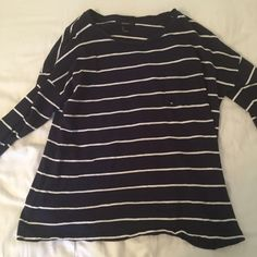 Forever 21 Long sleeve shirt blue and white striped! with pocket Forever 21 Tops Tees - Long Sleeve