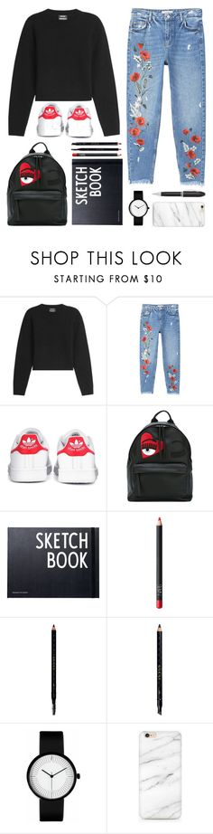 """""""back-to-school ✏"""" by orangve ❤ liked on Polyvore featuring Anthony Vaccarello, MANGO, adidas, Chiara Ferragni, Design Letters, NARS Cosmetics, Gucci and TrackR"""