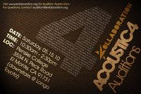 Kollaboration Acoustic 4 Auditions