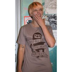 Silver Sprocket Store: Shirt: Nap All Day Sleep All Night Party Never Sloth - by Nation Of Amanda - Nation Of Amanda