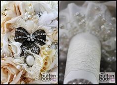 How #cute is the #black #bow on this #bouquet! It looks #amazing next to the #white and #ivory #tones! What are your thoughts?  #alternativebouquet #stunning #brooches #sparkles #alternative #wedding #bride #instaweddings #handmade #love #weddingparty #celebration  #bridesmaids #happiness #ceremony #romance #marriage #weddingday #broochbouquets #fashion #flowers #australia  www.nicsbuttonbuds.com.au www.facebook.com/nicsbuttonbuds www.pinterest.com/nicsbuttonbuds…
