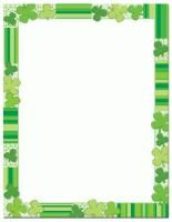 Green Clovers St. Patrick's Day Letterhead and Themed Paper - perfect for St. Patrick's Day flyers, invitations, menus, more!