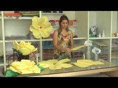 Rosas Gigantes de Papel - como fazer - YouTube