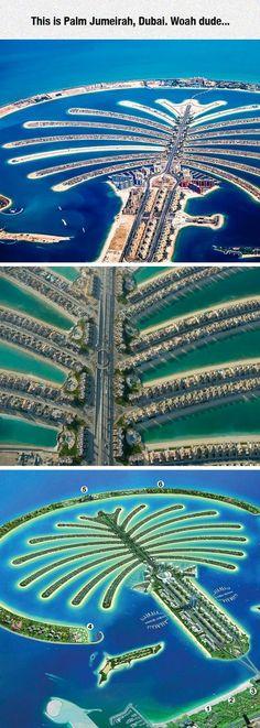 """Palm Jumeirah In #Dubai Só quem assiste """"Obras Incríveis"""" aprecia profundamente esse lugar!"""