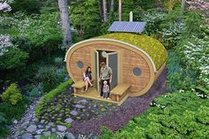Constructed from organic materials like FSC-certified wood, soil, and grass, the Backyard Ark provides a rooftop space to plant a garden, while the benches flanking the unit let you admire your natural surroundings. You can also install a wind turbine to keep things extra eco-friendly.