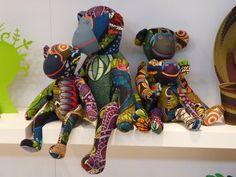 Shut Up! African Print Stuffed Animals