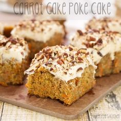 Carrot Cake Poke Cake {Sweet Pea's Kitchen} *cake from scratch*