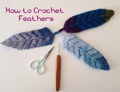 How to crochet feathers. Free pattern
