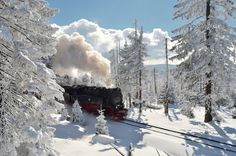 Steam Locomotive, Harz Mountains jigsaw puzzle in Great Sightings puzzles on TheJigsawPuzzles.com