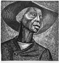 Elizabeth Catlett, Sharecropper, 1970. Linoleum cut on paper, image: 17 3/4 x 16 7/8 in. Smithsonian American Art Museum, Museum purchase 1981.97.1. © 1970 Elizabeth Catlett. Art © Catlett Mora Family Trust/Licensed by VAGA, New York, NY