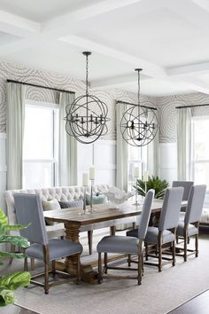Rustic Dining Room Design Ideas - Shop this look!  I'm really loving the neutral grays here.   #diningroom #diningroomideas #rustic #rusticdecor #homedecor #affiliate