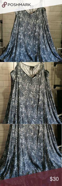Plus size sleeveless dress Gorgeous blue flowy dress ASOS Curve Dresses Midi