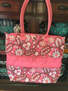Details about NEW Vera Bradley Expandable Tote Blush Pink Bag Work School  Travel Beach Durable 52d98e6d34668