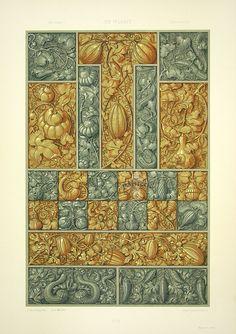 """Gourds"" from Anton Seder Die Pflanze Art Nouveau Prints 1890"