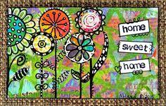 Video tutorial: Doodled Flowers on Gelli® Prints - Index Card, ICAD