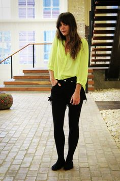 neon green goes so well with black