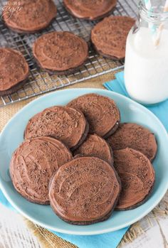 Grandfather's Favorite Chocolate Cookies - soft and cakey iced chocolate cookies! An old family recipe!