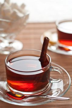 Oh, look, Darling, lavender tea. Are they using cinnamon stirrers?............