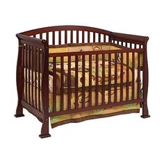Thompson 4-in-1 Convertible Crib With Toddler Rail - Coffee