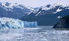 Hubbard Glacier – Nature's Phenomenon  Hubbard Glacier is a phenomenon because it is growing.  Sometimes this aperture at Gilbert Pointe actually closes causing possible disaster to the little village a few miles below.
