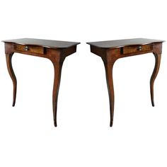 Small Pair of  Louis XV French Provincial Console Tables | 1stdibs.com