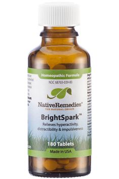 Native Remedies BrightSpark™ is a homeopathic supplement formulated to help with focus, concentration and other common symptoms ADD and ADHD in kids and adults. Homeopathic Medicine, Homeopathic Remedies, Holistic Remedies, Natural Health Remedies, Natural Cures, Natural Healing, Natural Foods, Natural Life, Natural Beauty