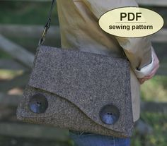 New: Sewing pattern to make the Thornham Bag PDF by charliesaunt