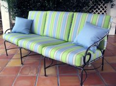 Wicker Paradise Cushions Made to Fit Brown Jordan Florentine Sofa Cushions via @wickerparadise #replacementcushions #cushions http://www.wickerparadise.com/replacement-cushions.html