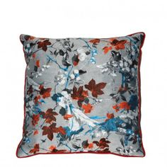 Jean Paul Gaultier - Tapisserie Cushion - Bengale - by Amara Living Small Cushions, Scatter Cushions, Cushions On Sofa, Bed Pillows, Accent Pillows, Orange Home Decor, Fall Home Decor, Contemporary Cushions, Fabric Display