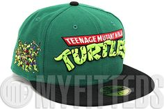 the latest d3460 b82aa Teenage mutant ninja turtles leather visor new era 9fifty strapback hat