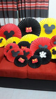 Topolino Minnie Mouse Party, Mickey Mouse Party Decorations, Mickey Mouse Crafts, Fiesta Mickey Mouse, Mickey Mouse Clubhouse Birthday, Mickey Birthday, Mickey Party, Mickey Mouse Baby Shower, Baby Mickey
