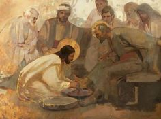 J. Kirk Richards: Jesus washes the feet