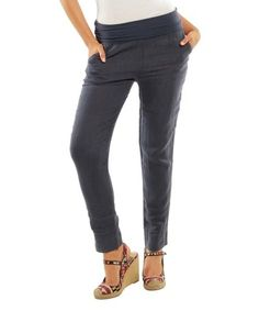 Loving this Navy Provence Linen Pants on #zulily! #zulilyfinds