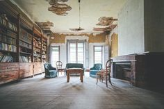 residential furniture books Haunting photos of abandoned castles