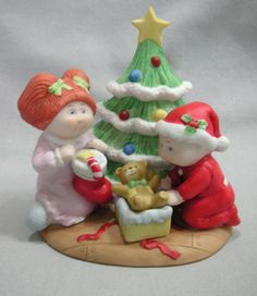 CABBAGE PATCH KIDS PORCELAIN FIGURINE CHRISTMAS DAY 1984 #5402 ORIGINAL TAG~BOX in Dolls & Bears, Dolls, By Brand, Company, Character | eBay