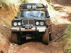 Jeep Grand Wagoneer out playing Jeep Jk, Jeep Wrangler Yj, Jeep Pickup, Jeep Truck, Cool Jeeps, Cool Trucks, Jeep Cherokee, Cherokee Chief, Willys Wagon