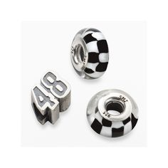 Insignia Collection Nascar Jimmie Johnson Sterling Silver 48 Bead Set, Black