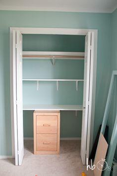 DIY+Craft+Storage+in+a+Clothing+Closet