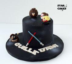Tarta Angry Birds Star Wars  Síguenos en https://www.facebook.com/starcakes.es