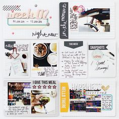 Project Life 2014 Week 2 by Leena Loh. Love love love the perfect simplicity and white space!