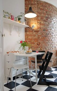 Paredes de ladrillo en la cocina | Decorar tu casa es facilisimo.com