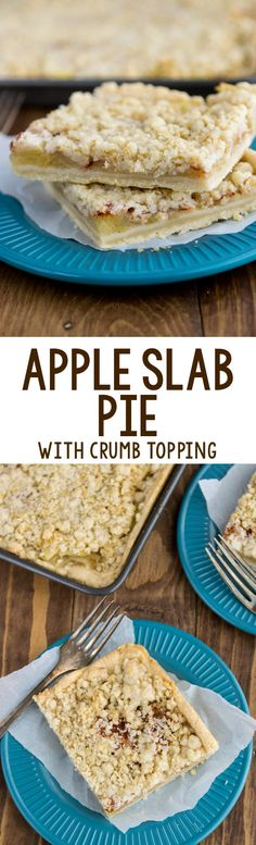 Apple Slab Pie with crumble topping is the perfect pie recipe for a crowd! It's easy to slice, easy to serve and even easier to eat!