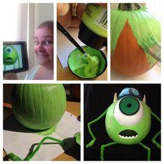 My Mike Wazowski Pumpkin