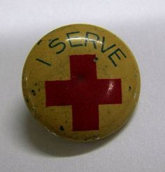 old red cross pin