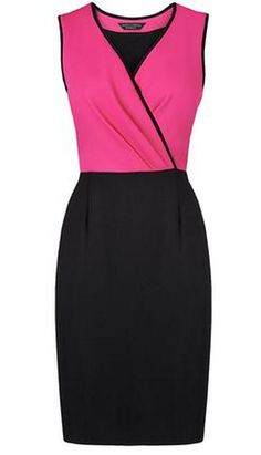 L.K. Bennett.  The luxurious Armina dress is woven from chic and comfortable viscose blend. Featuring a flattering color block design, Armina is a smart and practical trans-seasonal dress.