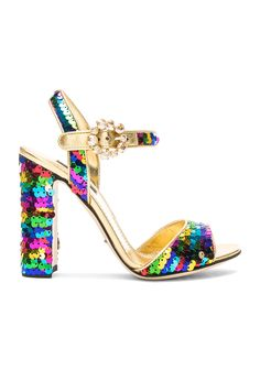 Dolce & Gabbana Sequin Sandals in Multicolor | FWRD