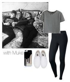 """Luke Hemmings & Michael Clifford"" by leisharomano ❤ liked on Polyvore featuring NIKE, WithChic and Vans"