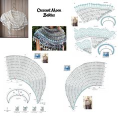Crochet Crescent Moon Baktus